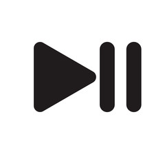 Play pause audio buttons icon