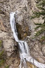 Waterfalls in the Rocky Mountain Landscape