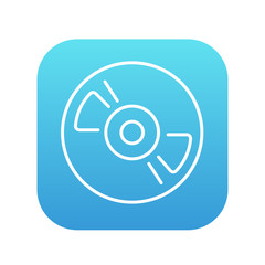 Reel tape deck player recorder line icon.