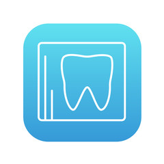 X-ray of tooth line icon.