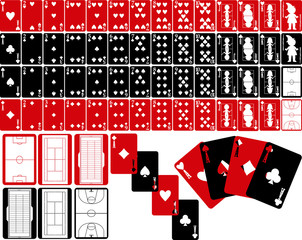 Poker Cards Red / Black ---fo38