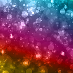 Abstract blurred celebration background with sparkle bubble lights.