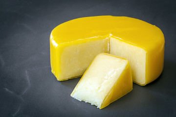 Cheddar Cheese on Black Slate