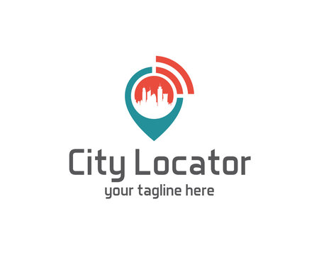 City locator design vector template. Pin maps symbol vector . Gps icon design vector. Simple clean design Gps locator logo vector.