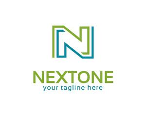 Business corporate letter N logo design vector. simple letter N logo template. Letter N vector .
