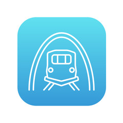 Railway tunnel line icon.