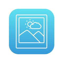 Picture line icon.