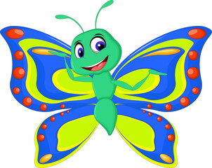 cute butterfly cartoon