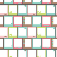 Seamless pattern with photo frame