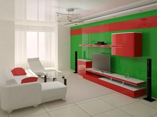 Modern interior of living room.