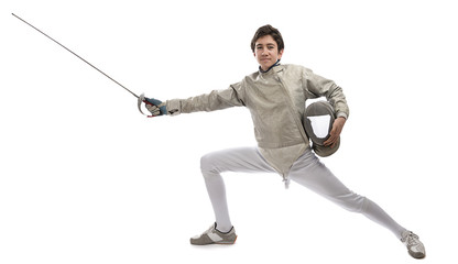 Teen Fencer Looks at Camera