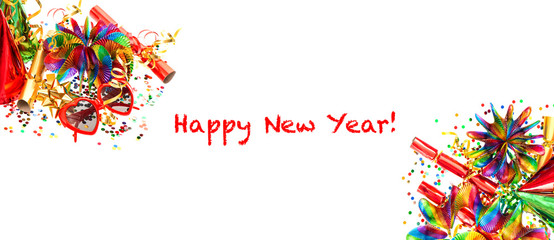New Year's party decoration. Holidays banner