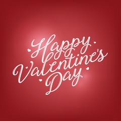 Valentines day lettering background. Vintage vector illustration
