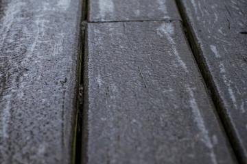 old black wooden icing decking