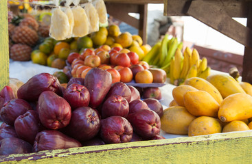 Local fruit for sale by the street in Falmouth, Jamaica