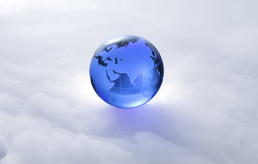 Globe of the World.Eurasia