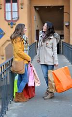friends going shopping