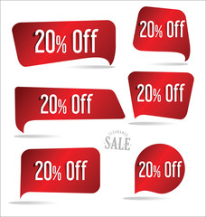 20 percent off red sticker collection