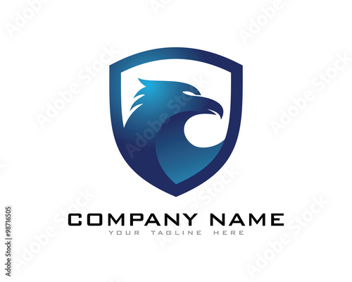 """eagle shield security logo"""" stock image and royalty-free vector"""