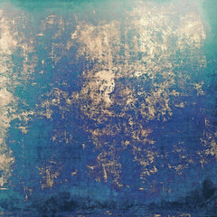 Grunge, vintage old background. With different color patterns: brown; blue; green; cyan