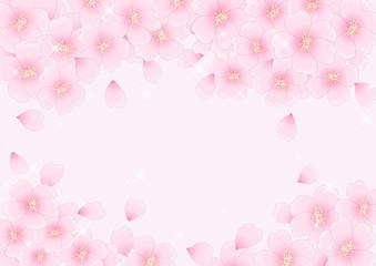 桜咲く背景 ピンク キラキラ