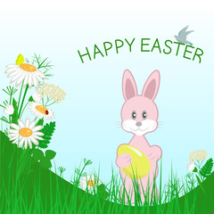 Rabbit and happy easter