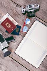 Set of travel stuff