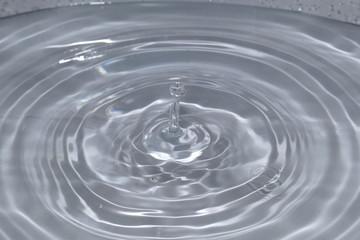 Tropfen in Wasser