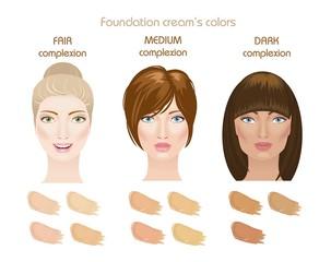 Foundation cream's colors