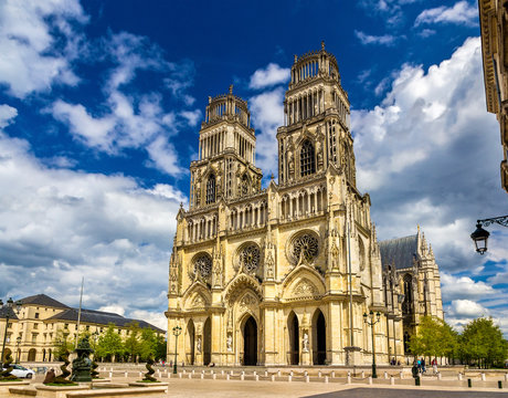 View of Orleans Cathedral - France, region Centre