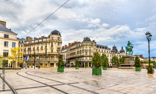 place du martroi the main square of orleans france photo libre de droits sur la banque d. Black Bedroom Furniture Sets. Home Design Ideas