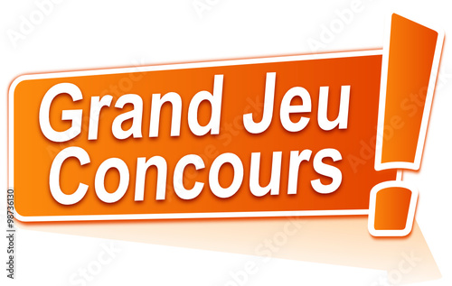 grand jeu concours sur tiquette orange fichier vectoriel libre de droits sur la banque d. Black Bedroom Furniture Sets. Home Design Ideas