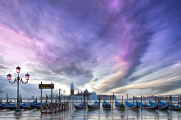 Photo sur Plexiglas Bestsellers Gondeln in Venedig