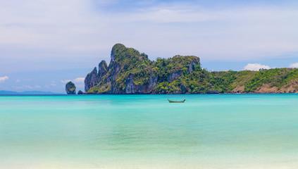 Beauty beach and limestone rocks in Phi Phi islands