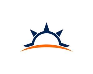 sun compass rose logo