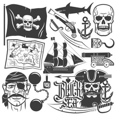 pirate sign design elements