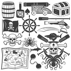 pirate logo design elements