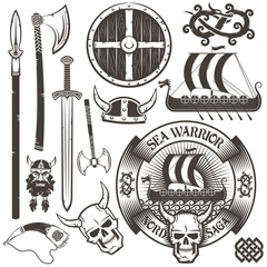 Viking logo and items