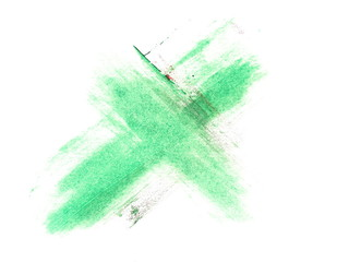 photo green delete web icon grunge brush strokes oil paint isolated on white background