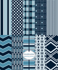Repeating patterns for digital paper, scrapbooking, cards, invitations and paper backgrounds. File includes: plaid, circles, squares, rectangles, stripes, chevron and more.