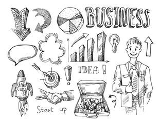 business vector sketch