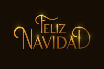 Hand sketched Feliz Navidad (Nappy New Year In spanish) logotype