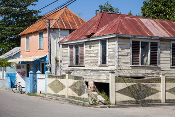 Jamaican houses; metal roofs, pastel colors, wood, cosy cottages of the Carribean
