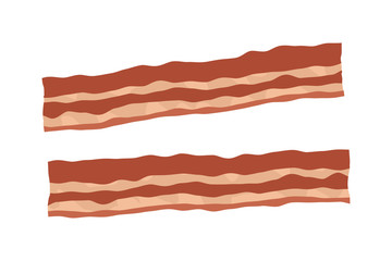 Bacon strips color illustration for apps and websites