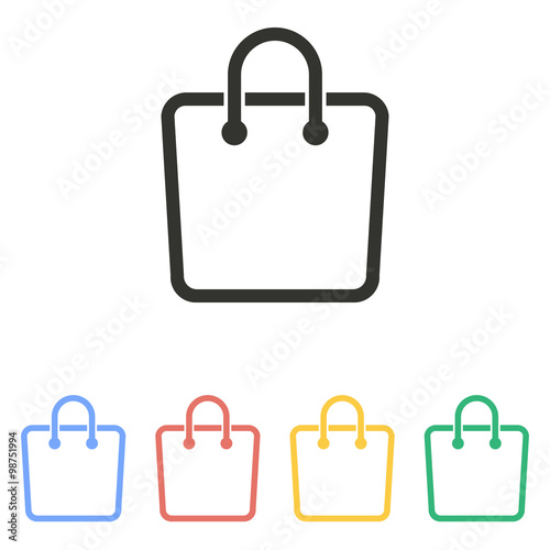 shopping bag vector icon stock image and royalty free vector rh fotolia com shopping bag vector image shopping bag vector design