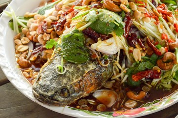 Deep Fried Snakehead Fish with Herb