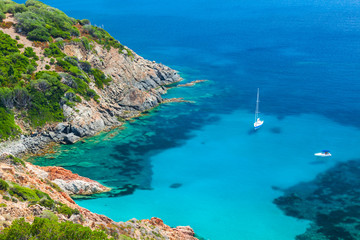 Coastal summer landscape of South Corsica