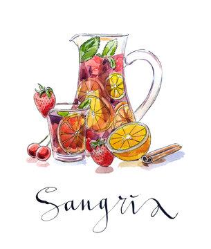 Refreshing sangria (punch)