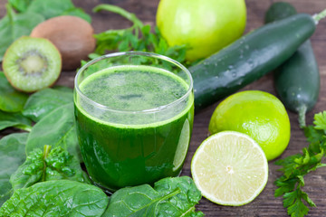 Fresh organic, Green smoothie