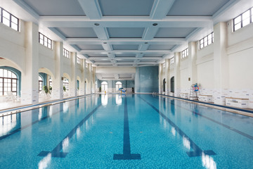 interior of modern swimming pool